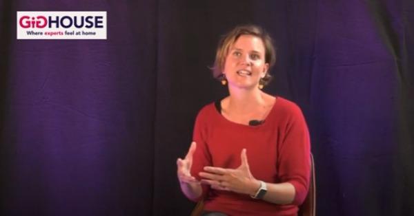 Tine Dufour tijdens GIG-Talks over open hiring